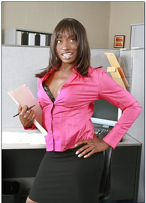 Ebony Office Girl Porn